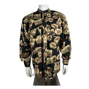 Men's Western Themed Long Sleeve Shirt 16x35 Large